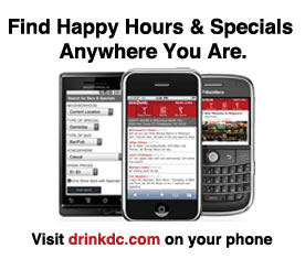 Find happy hours and drink specials anywhere you are