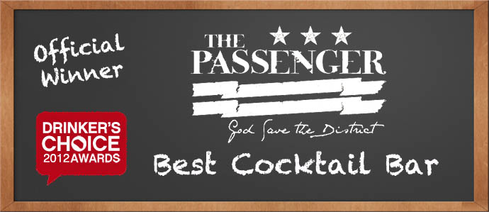 Drinker's Choice 2012 Winner, Best Cocktail Bar: The Passenger