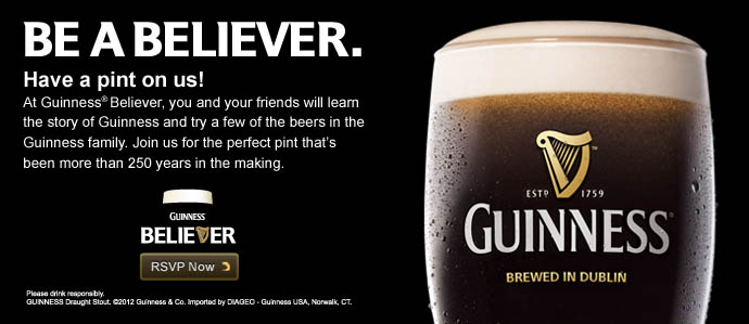 Become a Guinness Believer