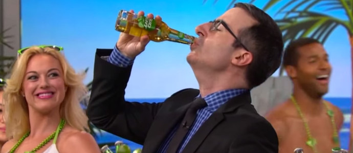 John Oliver Delivers on FIFA Challenge and Chugs a Bud Light Lime