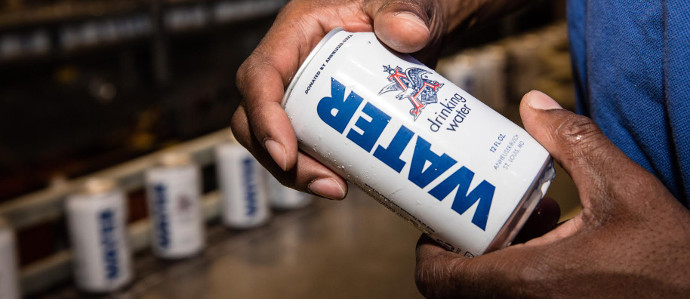 Anheuser-Busch Is Donating 480,000 Cans of Drinking Water to Puerto Rico and California