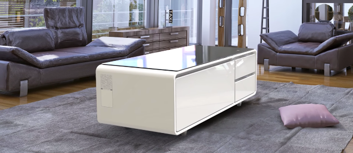 The Sobro Refrigerator Coffee Table Means You Never Need to Get Up Again