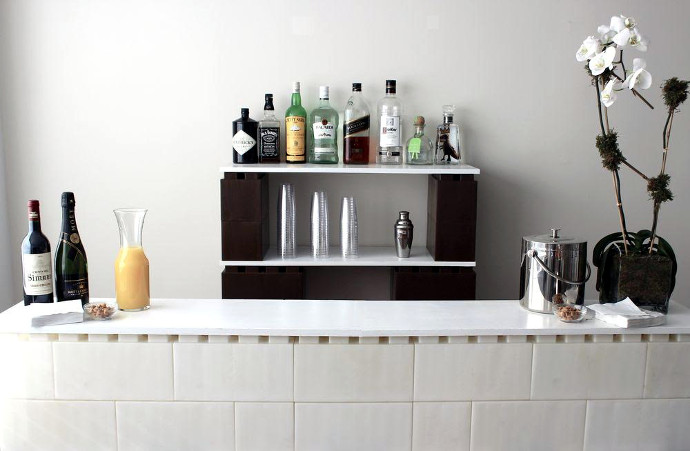 Build Your Own Home Bar With Life Sized Lego Inspired Bricks